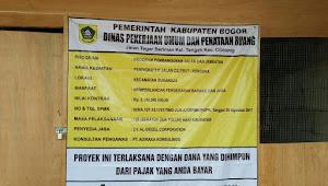 Papan Proyek Tanpa Volume Dan Tanggal Pengerjaan Lagi Ngetren Di Kabupaten Bogor