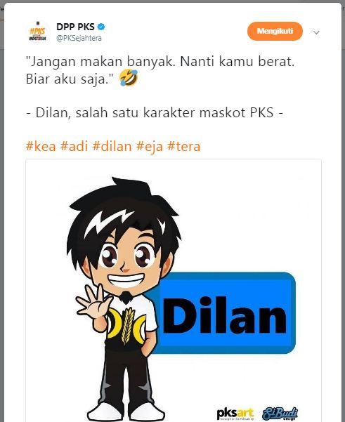 Heboh! PKS Jadikan Dilan Sebagai Maskot Partainya, Kok bisa?