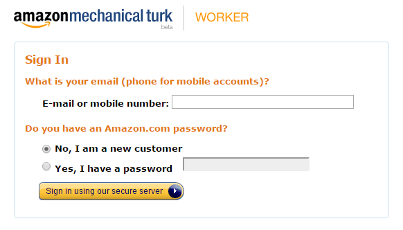 Amazon MTurk registration procedure - reason for denial