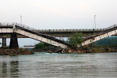 Broken down of the bridge