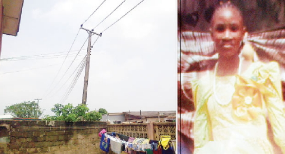 girl electrocuted high tension wire lagos