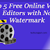Top 5 Free Online Video Editors with No Watermark