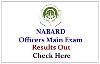 NABARD Officers Main Examination 2015 Results Out