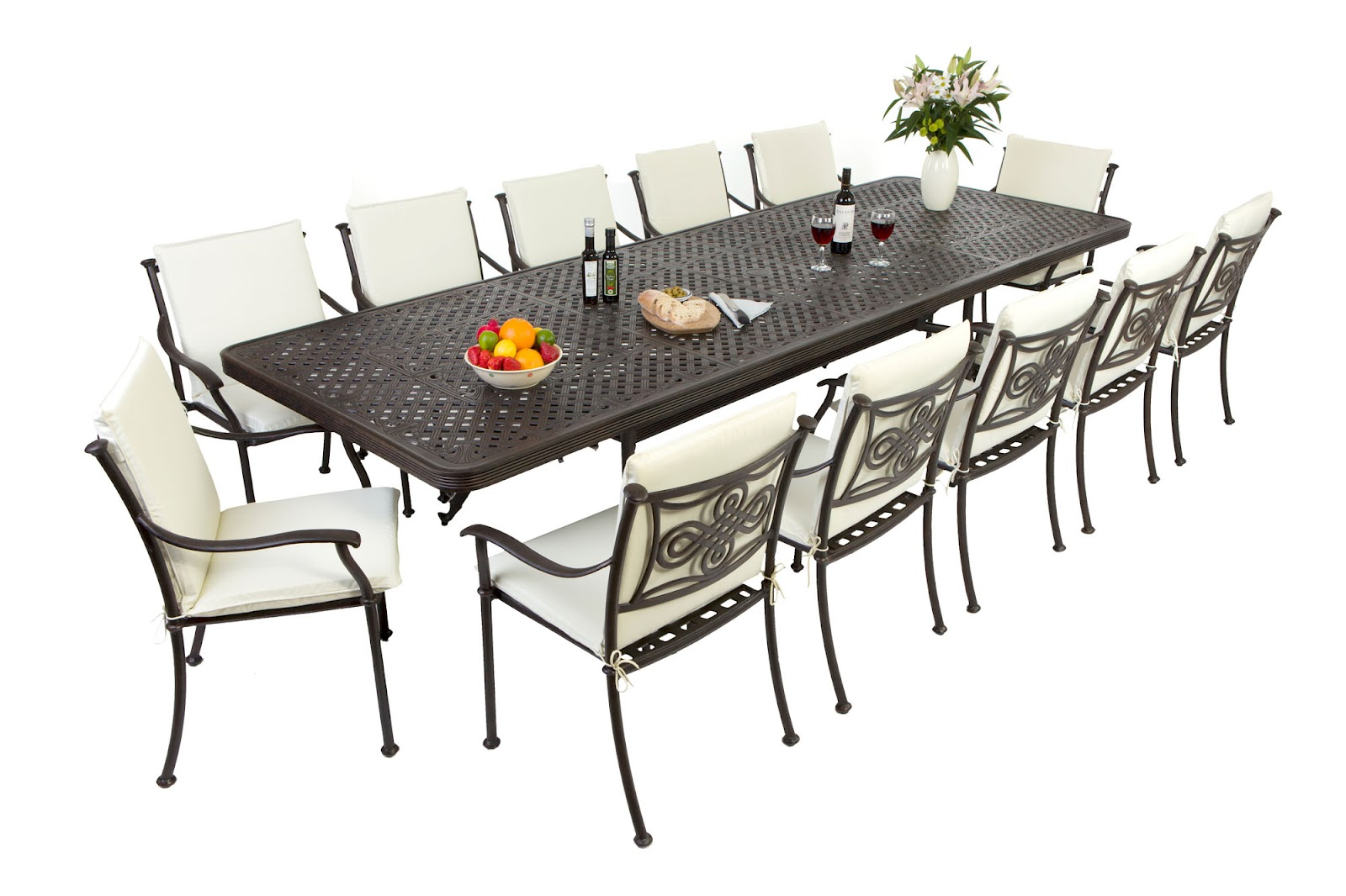 outdoor aluminium table and chairs home depot patio chair cushion covers outside edge garden furniture blog