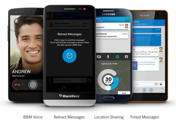 BBM Android update dengan Design Material 2016