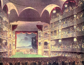 Theatre Royal, Drury Lane, from The Microcosm of London (1808)