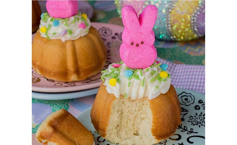 Easter Bunny Bundt Cakes