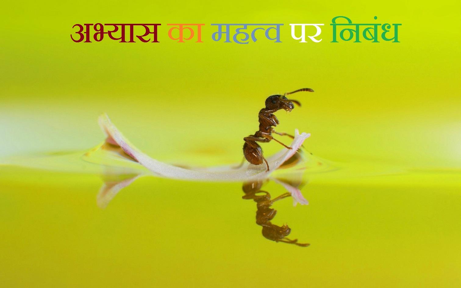 अभ्यास का महत्व पर निबंध-Essay On Importance Of Practice In Hindi