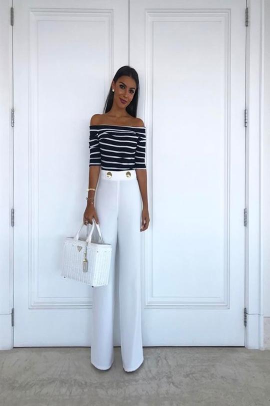 moda da pantalona branca