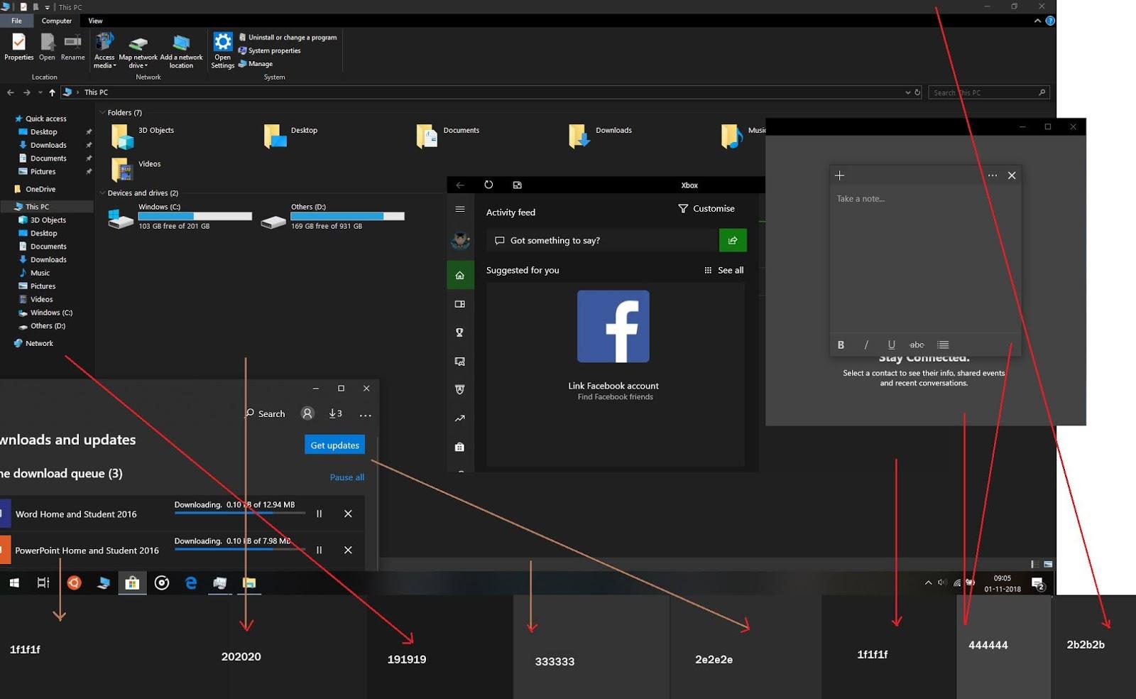 Microsoft-8-tonalità-grigio-windows-10-tema-scuro