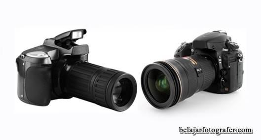 Gambar kamera Digital SLR / single-lens reflex digital camera antik berkualitas