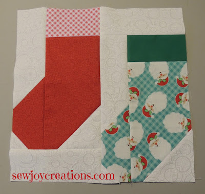 stockings pieced block holly jolly quilt along