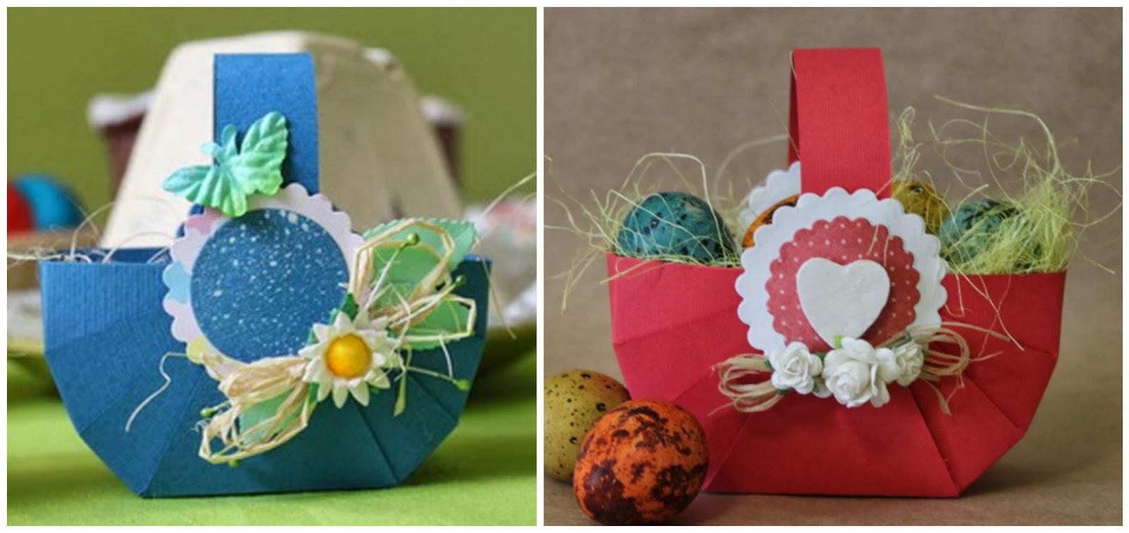 ESPECIAL DE PASCUA: Canastas para huevos de Pascua