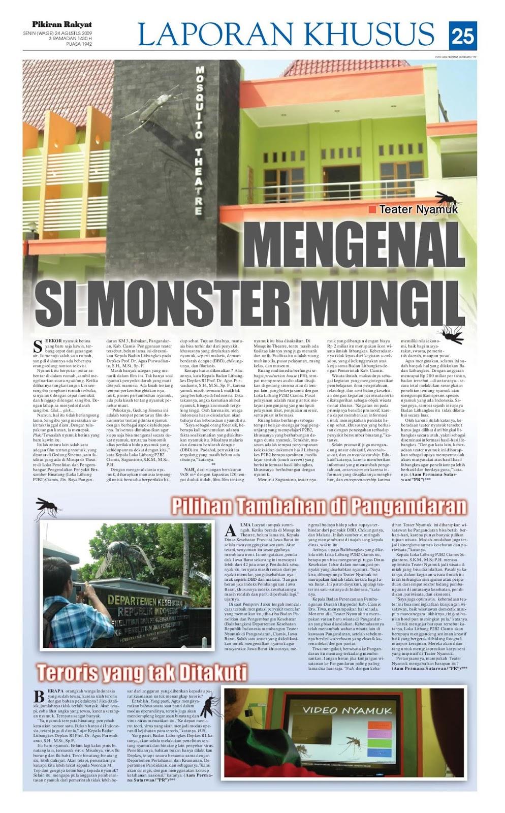 Teater Nyamuk: Mengenal Si Monster Mungil