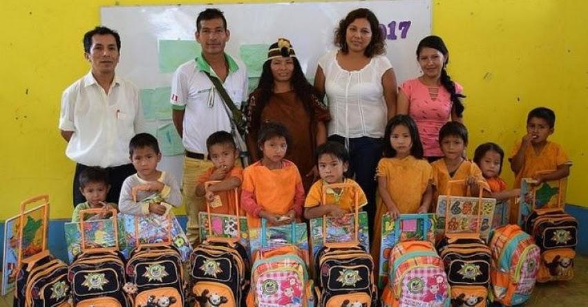 Entregan más de 200 mochilas a niños de nivel inicial de Satipo - Junín