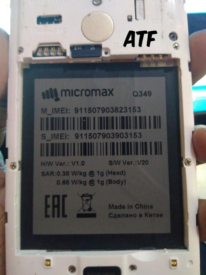 MICROMAX Q349 FLASH FILE FIRMWARE STOCK ROM