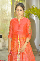 Simrat in Orange Anarkali Dress 16.JPG