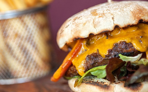 High In Cholesterol: Cheeseburger And Fries