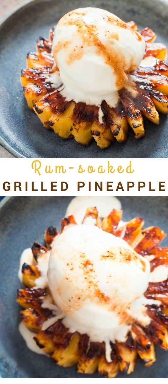 Best Grilled Pineapple with Brown Sugar Rum Glaze