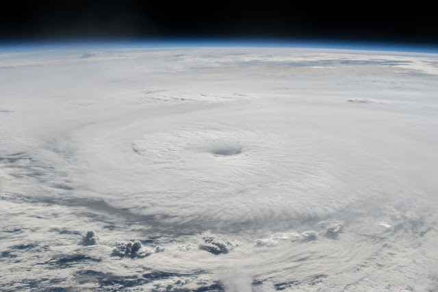 Typhoon Lionrock seen from the International Space Station