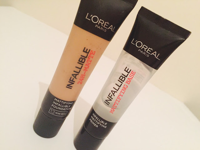 L'Oreal Infallible 24 hour matte foundation & mattifying primer review