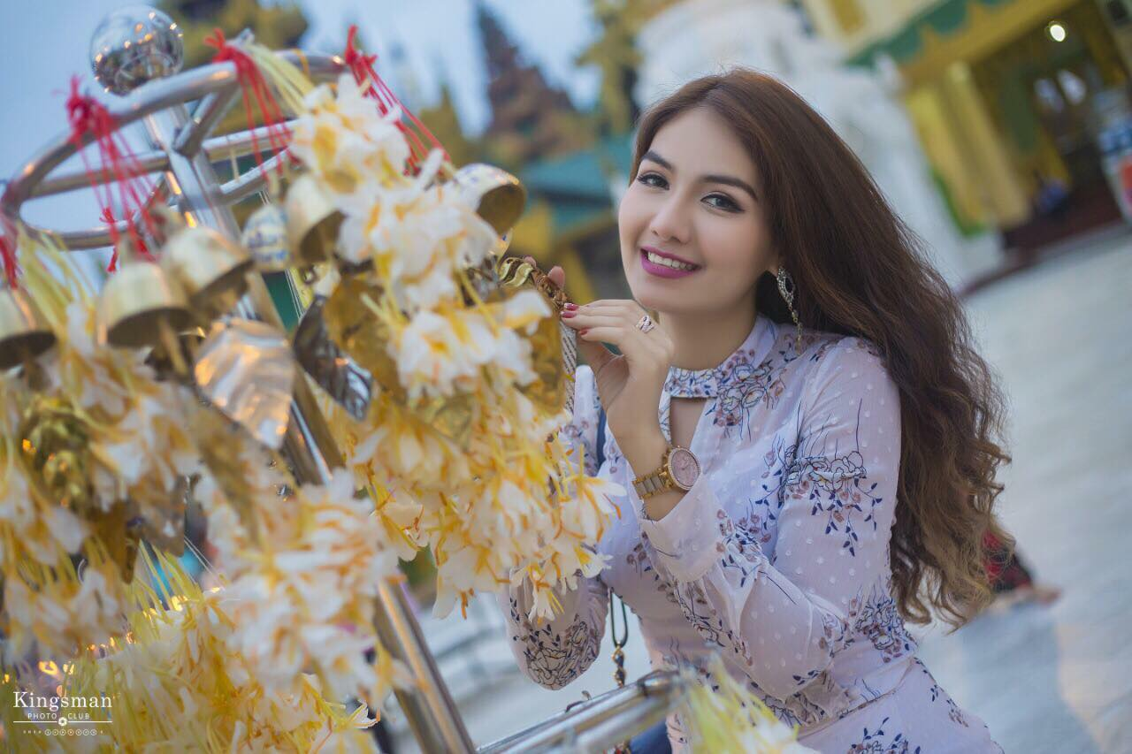 Hnin Pwint Akari in Burmese Dress - 7 Photos