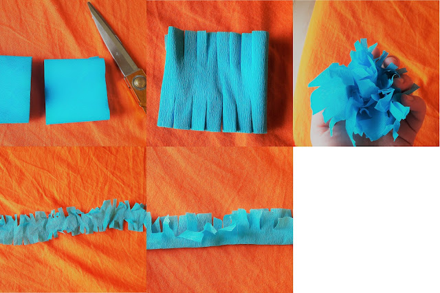 tutoriel realiser franges cheveux pinata photo facile scotch rapide diy
