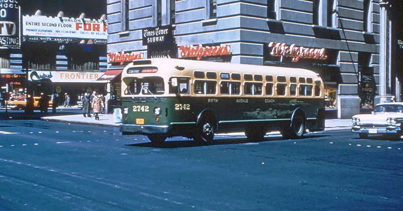 """""""Old Look"""" GMC diesel bus operating on Rt.E PHILADELPHIA ... 