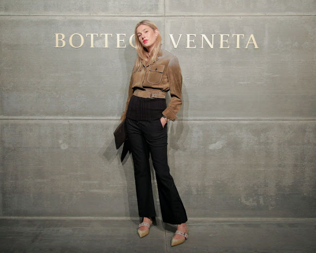 Camille Charriere At Bottega Veneta Show At New York Fashion Week 2018