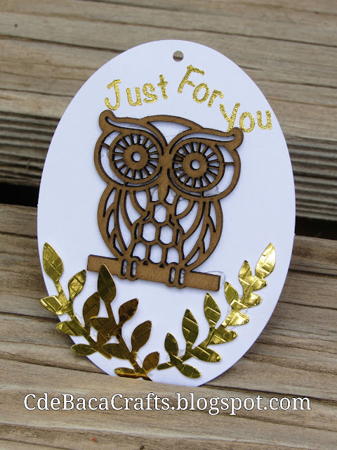 Owl Ideas for Gifts Tags and Handmade Idea by CdeBaca Crafts Blogger.
