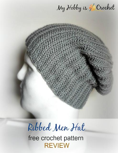 Ribbed Men Hat - Free Crochet Pattern REVIEW