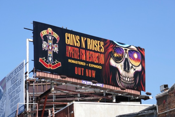 Guns N Roses Appetite for Destruction billboard