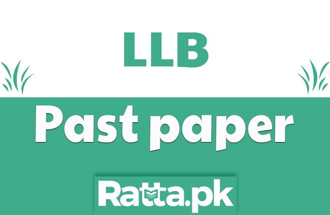 LLB Part 1 Islamic Jurisprudence Past Paper 2019