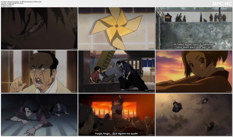Capturas de Samurai Champloo