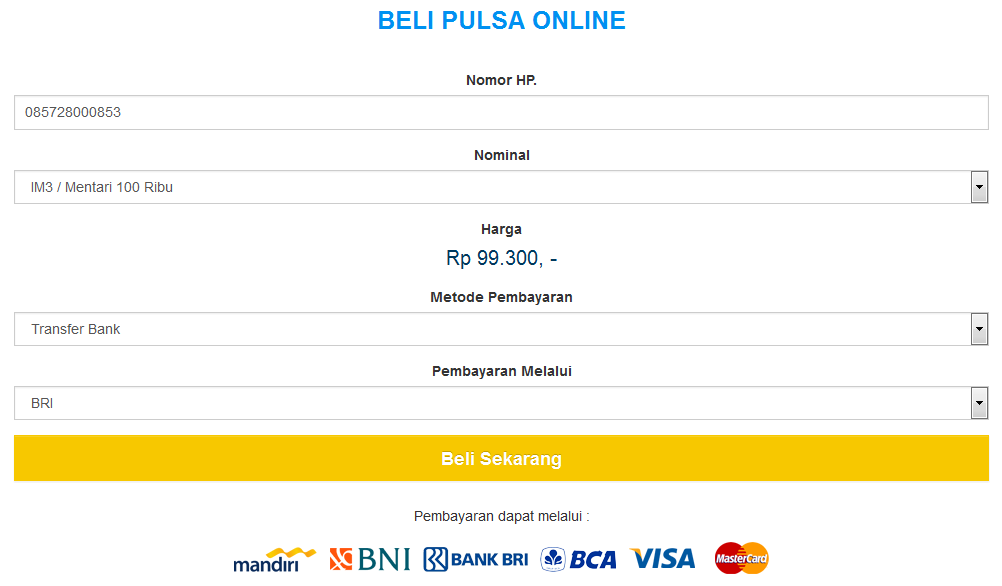 Panduan Pembelian Pulsa Online