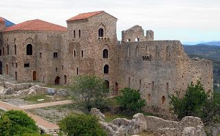 το παλάτι των Παλαιολόγων στον Μυστρά