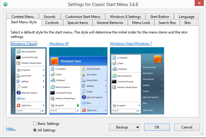 Windows 8 Start Menu Button - Just like Windows 7! 2