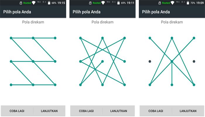 Cara Membuat Pola Kunci Layar Yang Sulit Di Android Teknodiary
