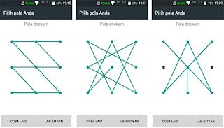 cara membuat pola layar yang sulit di android