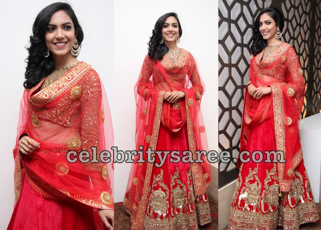 Ritu Varma Orange Lehenga
