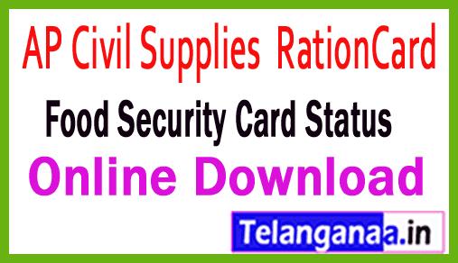 Andhra Pradesh Ration Card Details Online Download