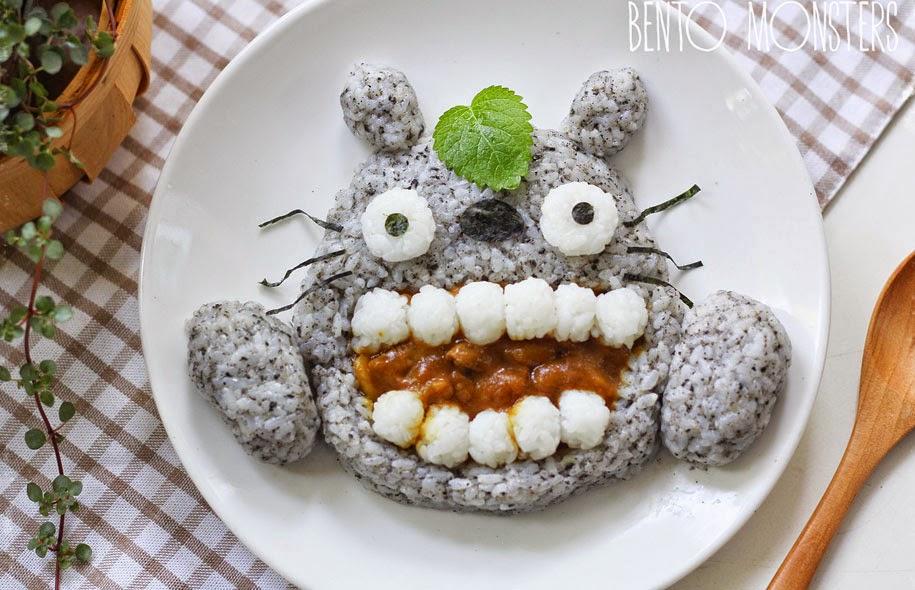 وجبة طعام على شكل قط