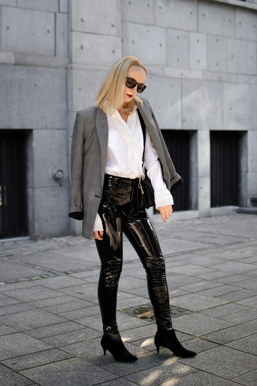 Winylowe spodnie stylizacja 7