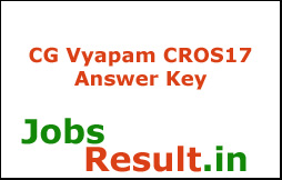 CG Vyapam CROS17 Answer Key