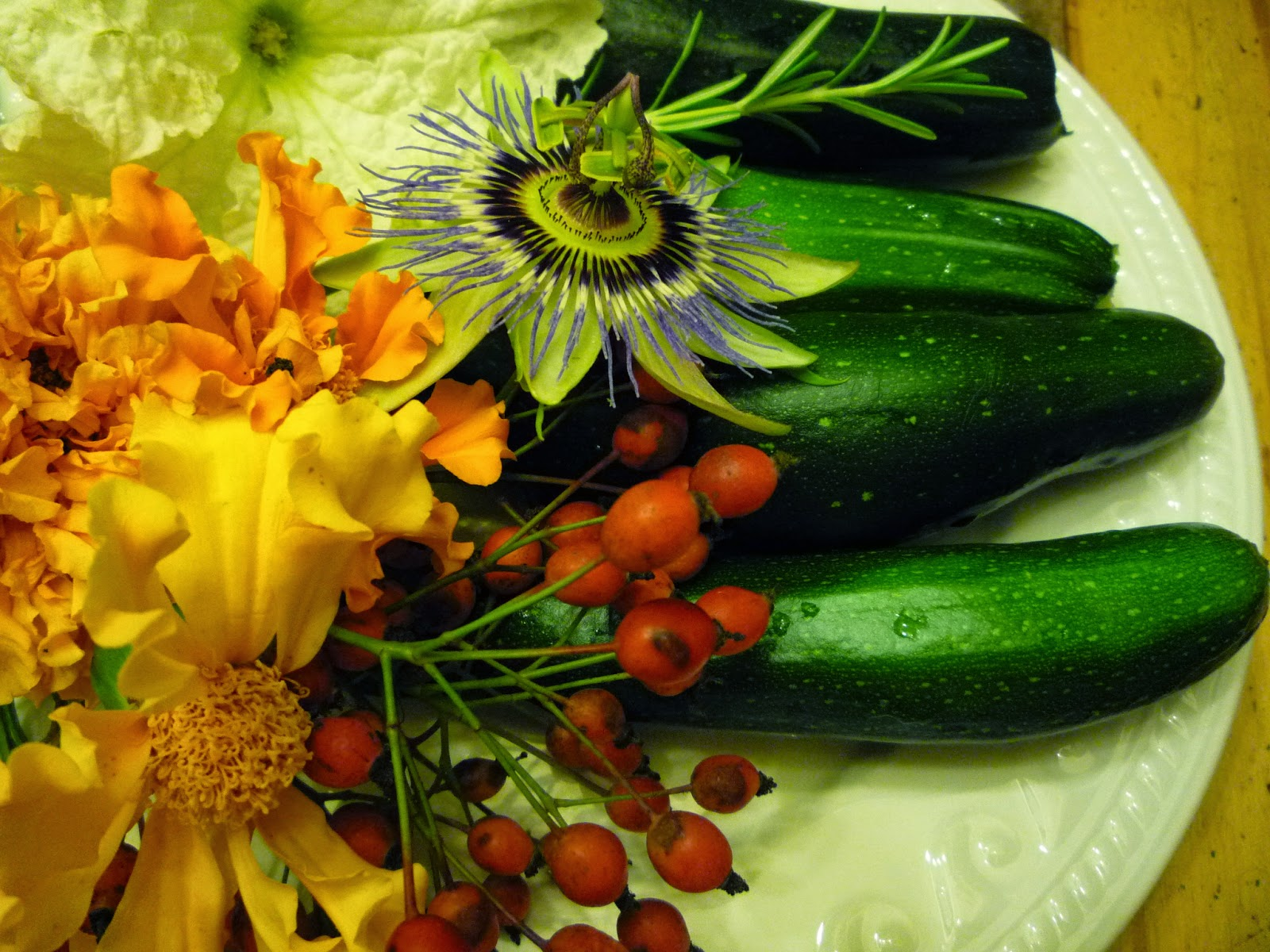 Organic home-grown fruits and flowers of Autumn