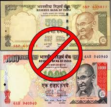 Rs.500 & 1000 Rupees currencies are banned