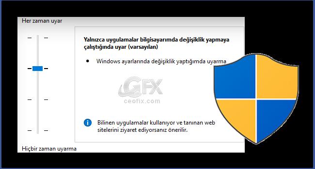 Windows'da Kullanıcı Hesabı Denetimi Açma Ve Kapatma-ceofix.com