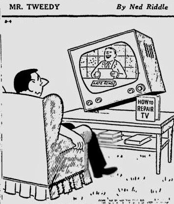 nostalgic television: 1960 Mr. Tweedy comic strip
