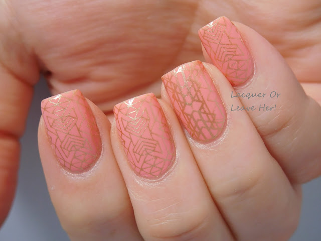 Zoya Tulip + It Girl Nail Art IG107