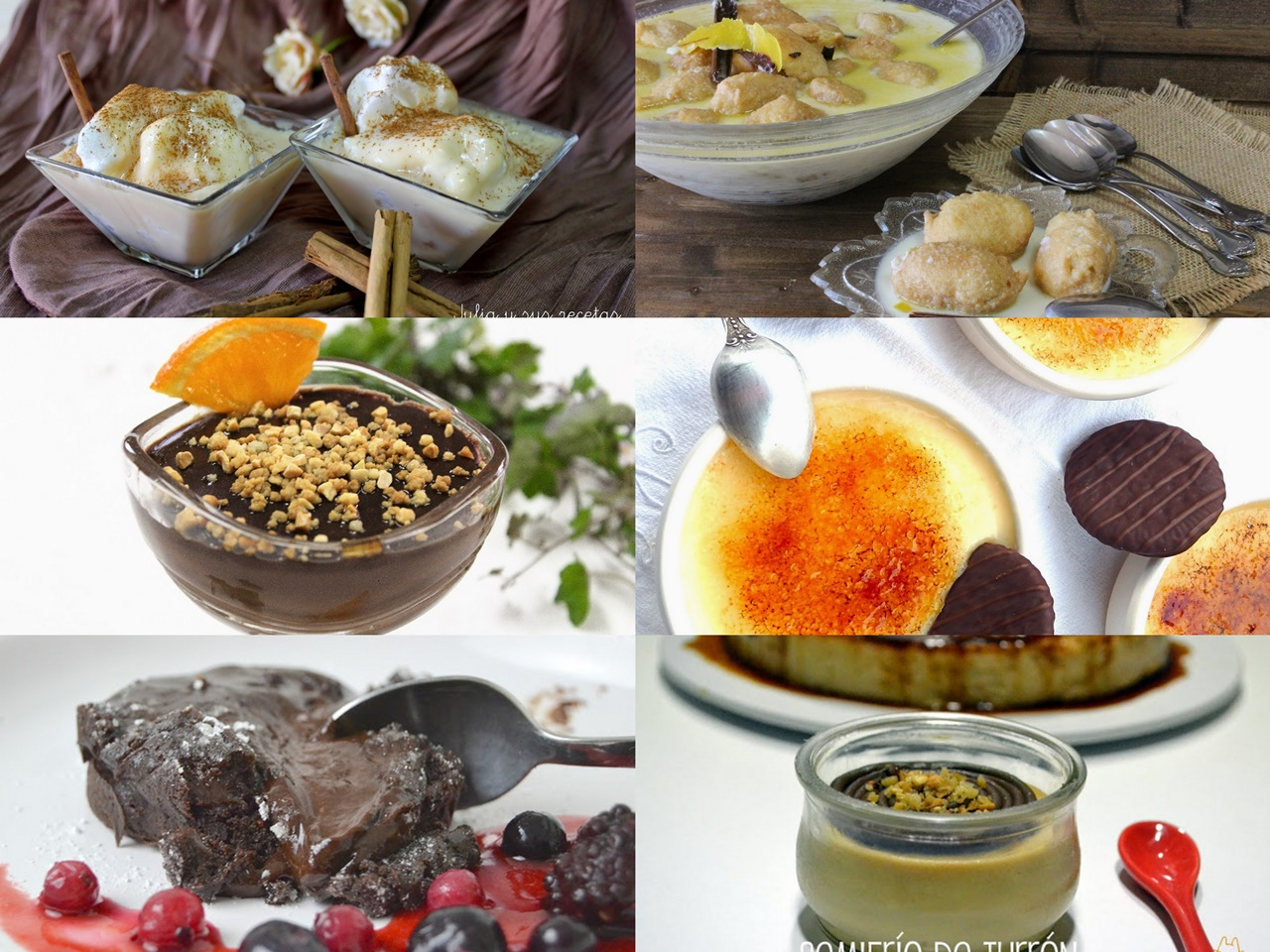 6 deliciosos postres de cuchara cocina